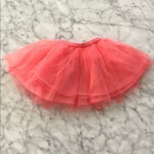 *worn once- Little girls pink tulle skirt